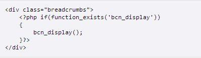 Breadcrumb NavXT書き込むコード