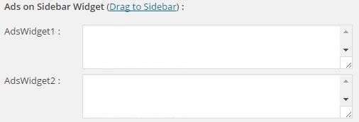 Ads on Sidebar Widget